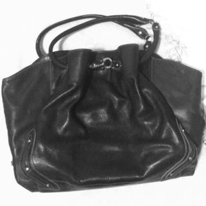 Black Leather Cole Haan handbag